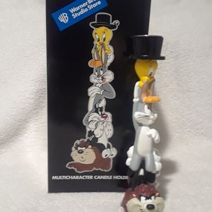 Vintage Looney tunes Multicharacter candle holder